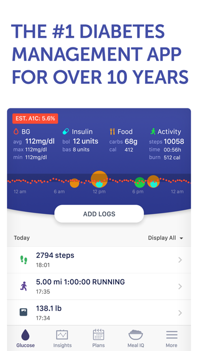 Glucose Buddy+ for Diabetes Screenshots