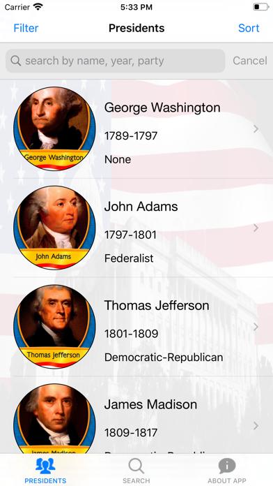 America.Presidents Brief Intro screenshot #3