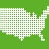 あそんでまなべる アメリカ地図パズル - iPadアプリ
