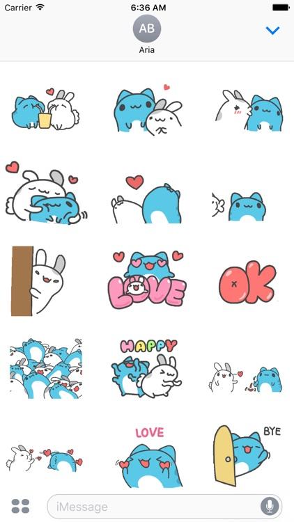 Animated Capoo & Tutu Sticker