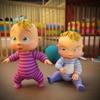 新生双胞胎婴儿妈妈游戏