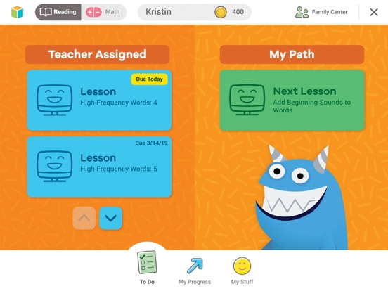 iPad Image of i-Ready for Students
