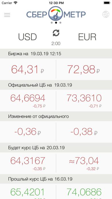 Сберометр: курс доллара завтраСкриншоты 1