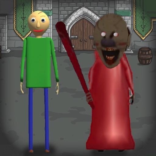 Red Granny and Green Baldi 2 icon