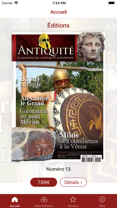 Antiquité Magazine Screenshot