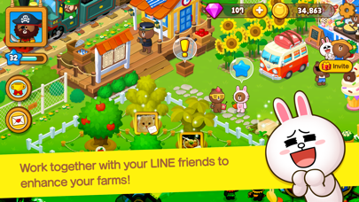 LINE BROWN FARM Screenshot