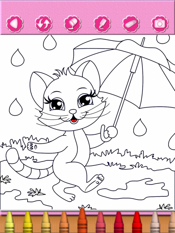 Coloring Pages: Cute Cat Kitty Kitten Coloring Book - Educational Learning Games For Kids & Toddler screenshot
