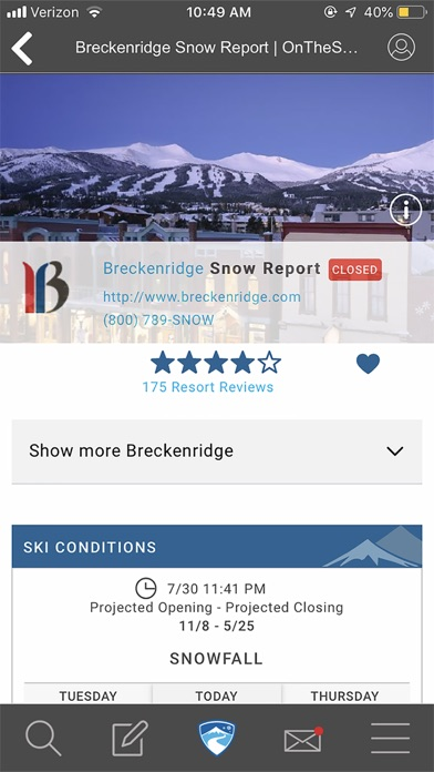 Screenshots for OnTheSnow Ski & Snow Report