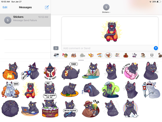 Cat Halloween Emoji Stickers screenshot 5
