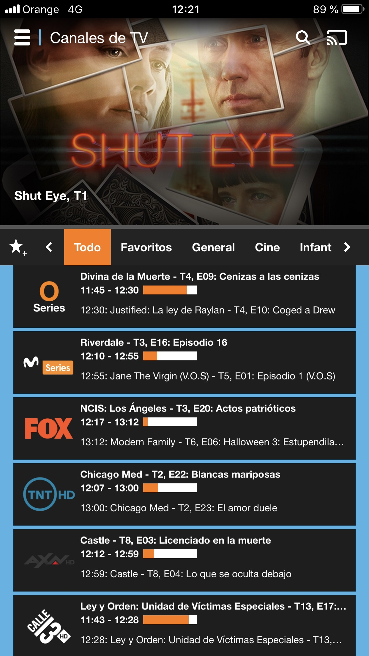 Orange TV Screenshot