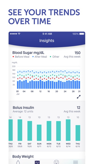 Glucose Buddy+ for Diabetes Screenshots