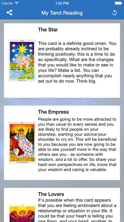 Daily Tarot Reading and Cards screenshot-3