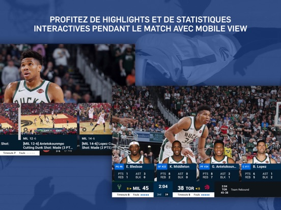 Screenshot #6 pour NBA App Officielle