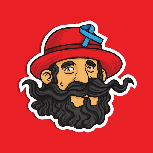 Vikings Mustache Moji Stickers
