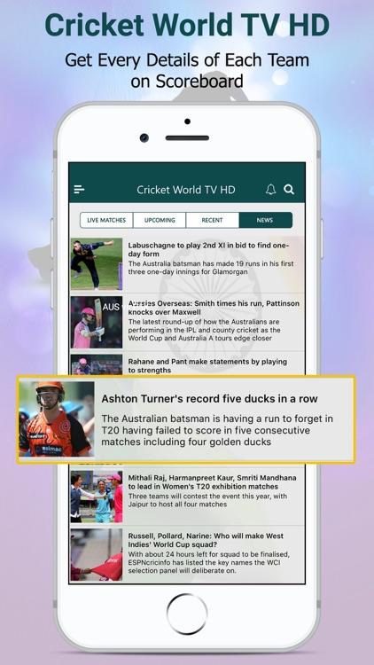 Live Cricket World TV HD screenshot-3