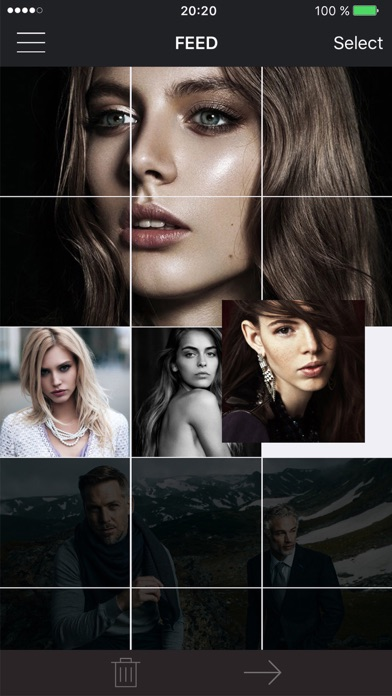 UCROP - Instagram puzzle