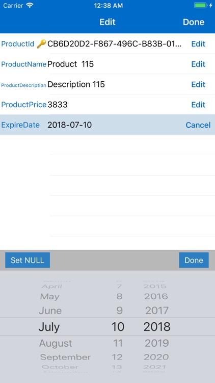SQL Server Mobile Client PRO screenshot-4