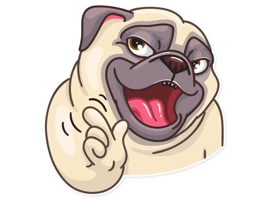 Funny Pug Stickers Pack