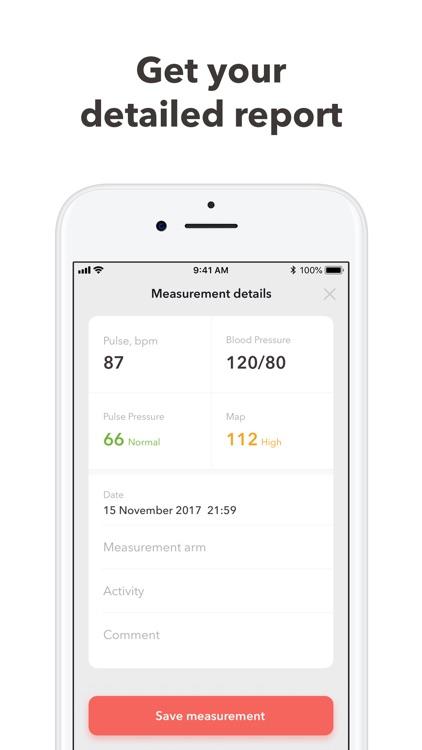Blood Pressure Monitor app log screenshot-3