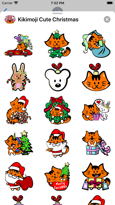Kikimoji Cute Christmas screenshot 3