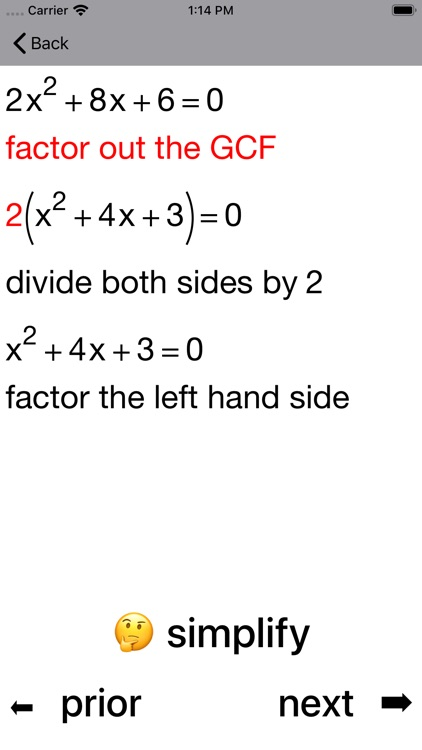 Quadratic Equations screenshot-5