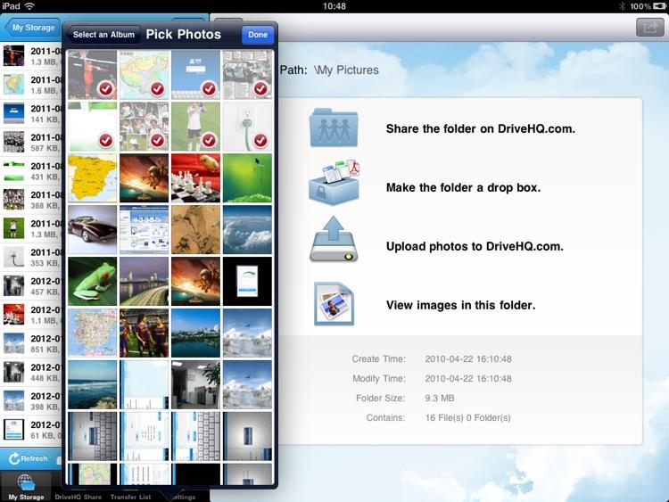 DriveHQ File Manager for iPad screenshot-3