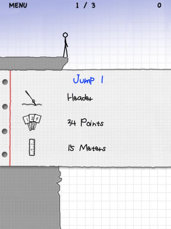 Stickman Cliff Diving screenshot