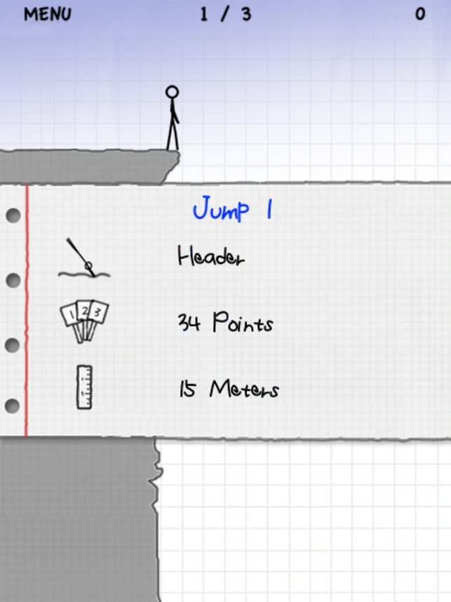 ‎Stickman Cliff Diving Screenshot