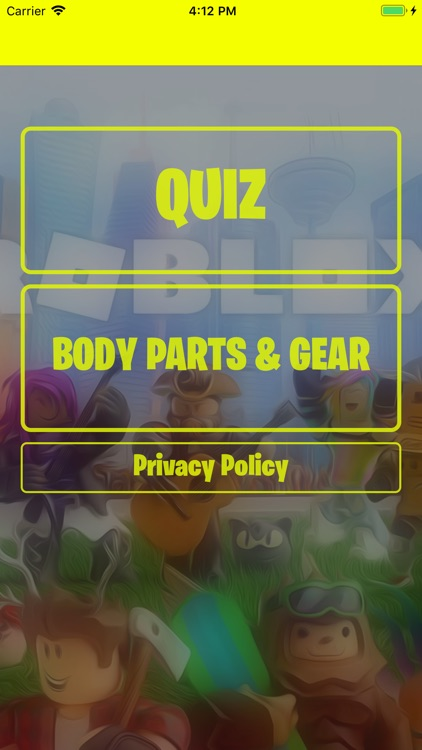 Quiz For Robux Gear &Body Part