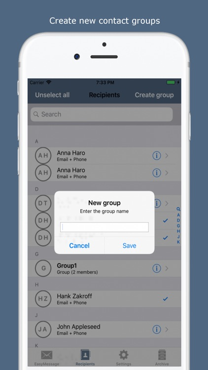 Easy Message - Group Bulk SMS screenshot-7