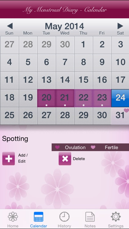 My Menstrual Diary screenshot-1