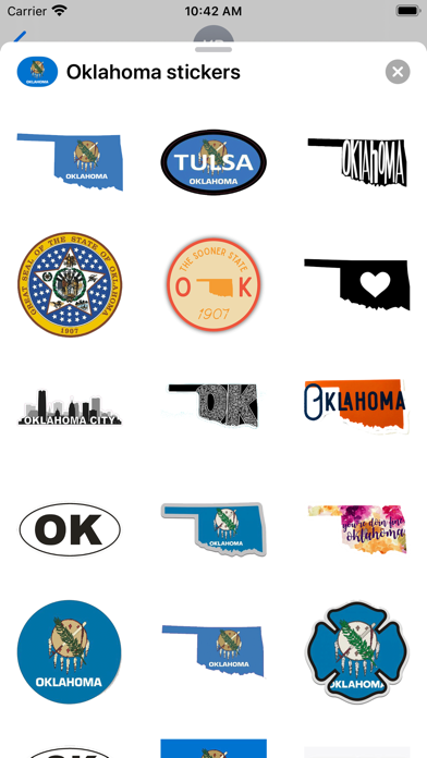 Oklahoma emoji - USA sticker screenshot 1