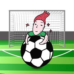 搞笑足球Sticker