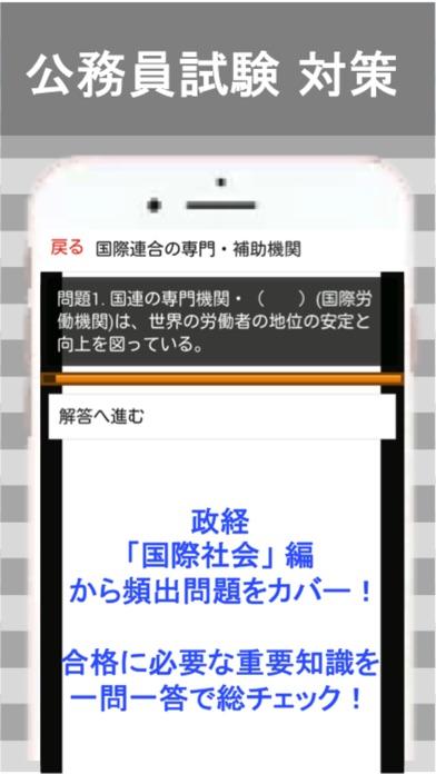 公務員試験 政経 一問一答④「国際社会」 screenshot two