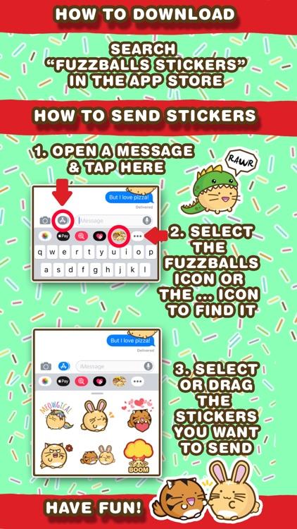 Fuzzballs Animated Stickers screenshot-4