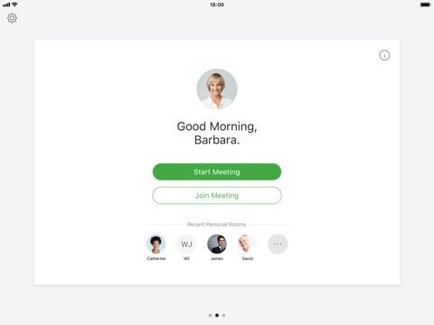 Screenshot of Cisco Webex Meetings