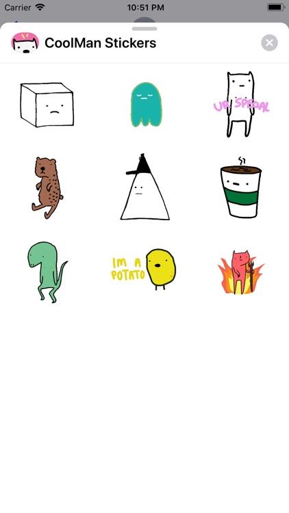 Coolman Coffeedan Stickers