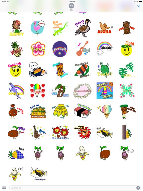 Hawaiian Life Icon Sticker screenshot 10