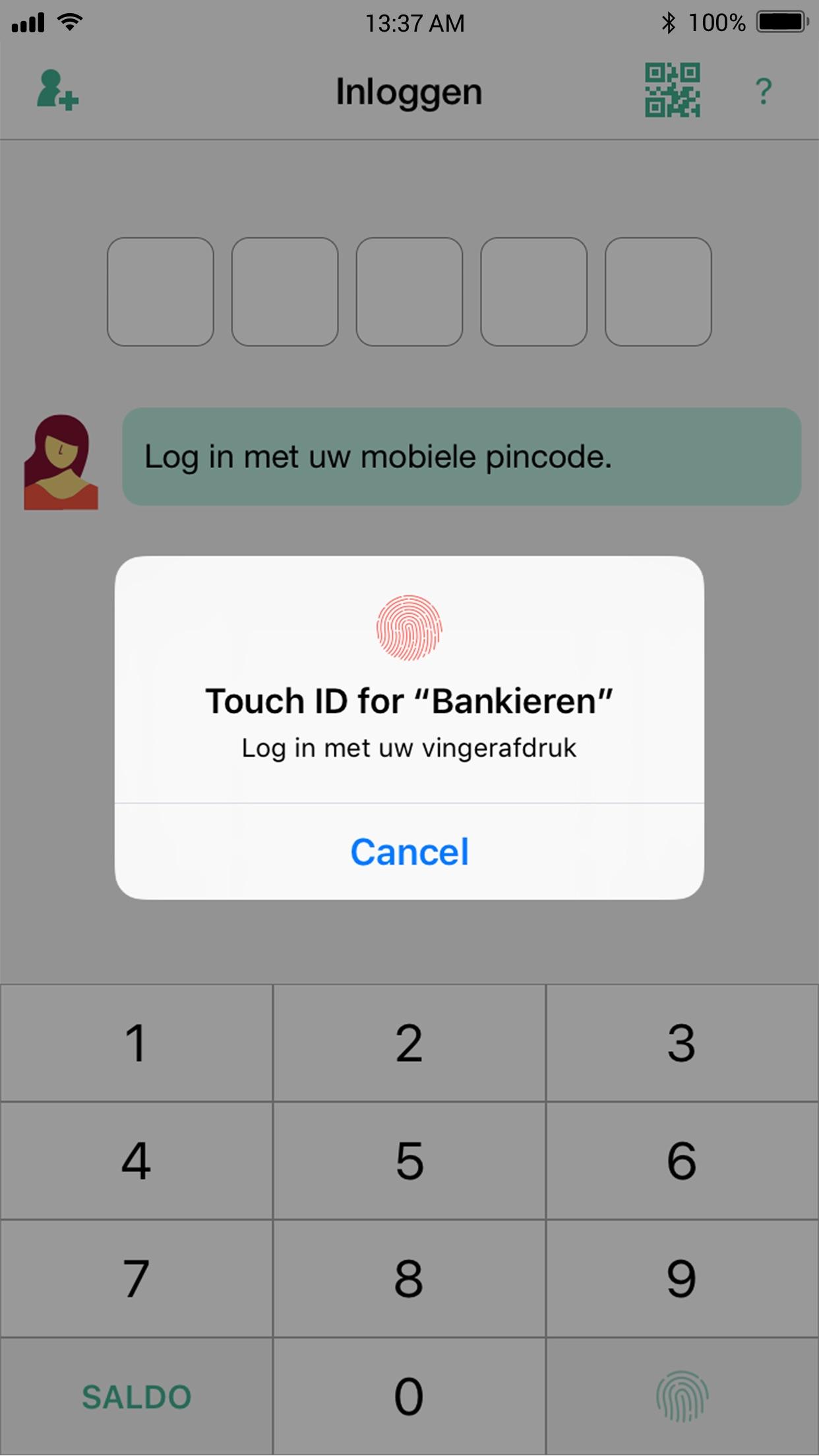 ASN Mobiel Bankieren Screenshot