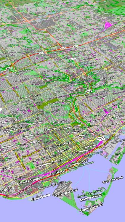 Scenic Map Eastern Canada screenshot-4