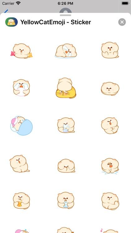 YellowCatEmoji - Sticker screenshot-3