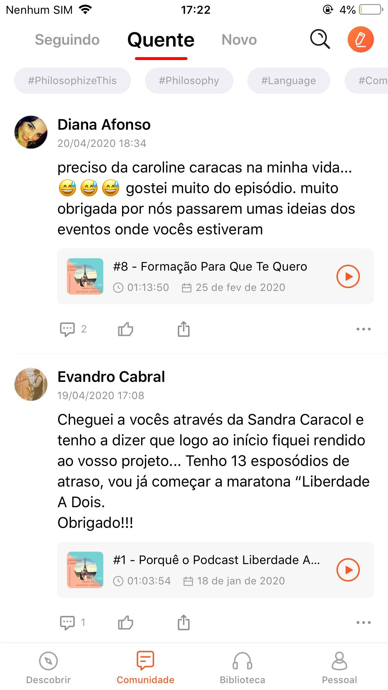 Screenshot do app Castbox