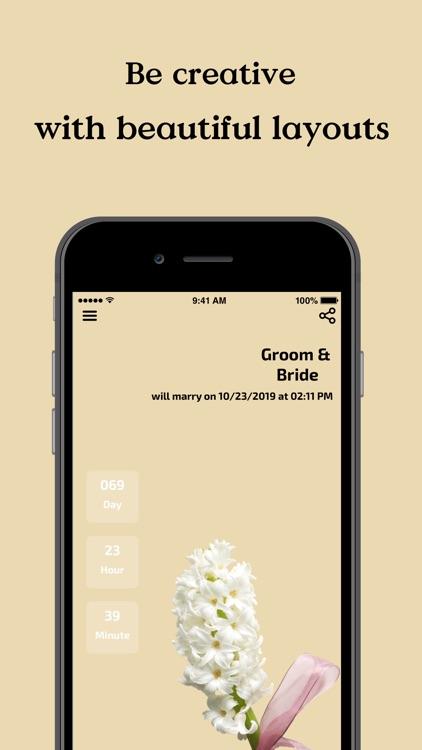 Wedding Planner With Counter screenshot-5