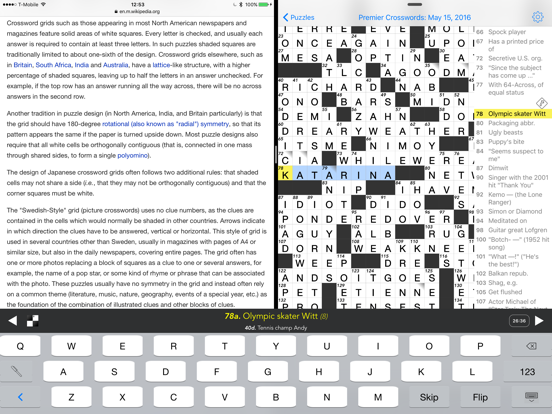 Crosswords screenshot