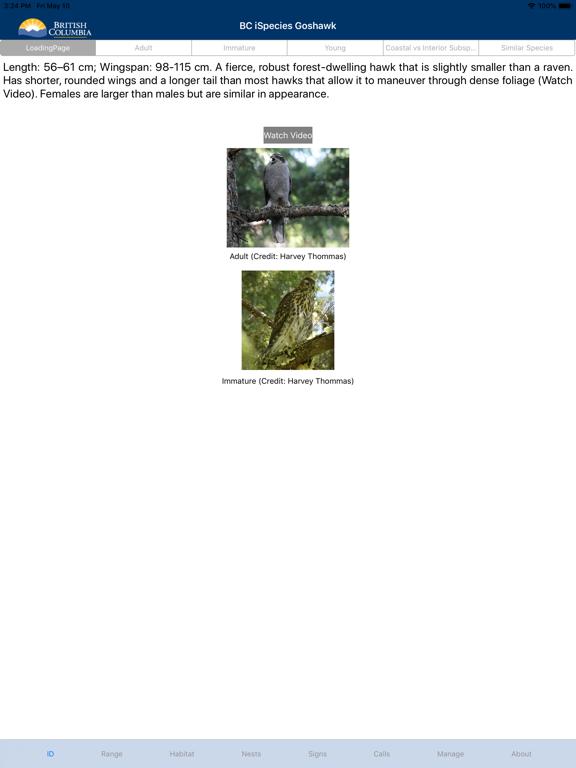 BC iSpecies Goshawk screenshot 4