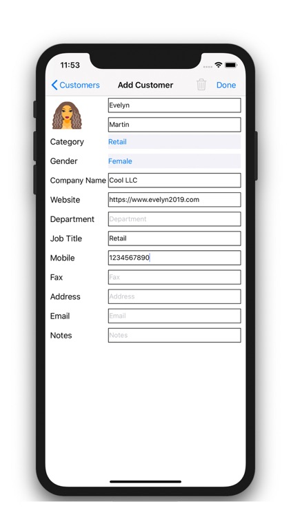 Customer Management - Contacts