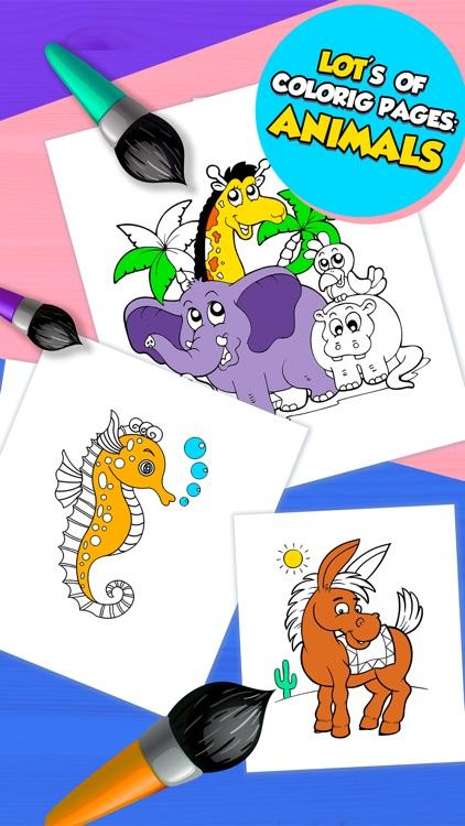 Kids Coloring Book Baby Learn screenshot-3