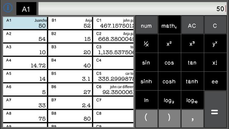 Calculator SpreadSheet Lite screenshot-3