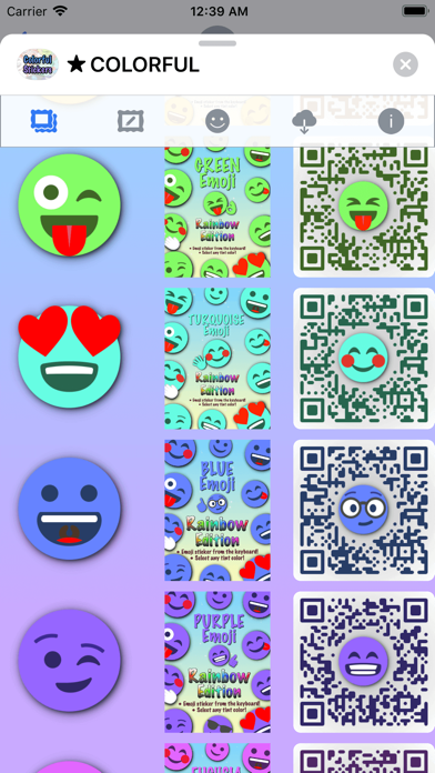 Colorful Stickers and Emoji screenshot 6
