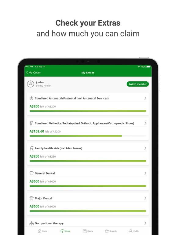 Nib Health Insurance screenshot